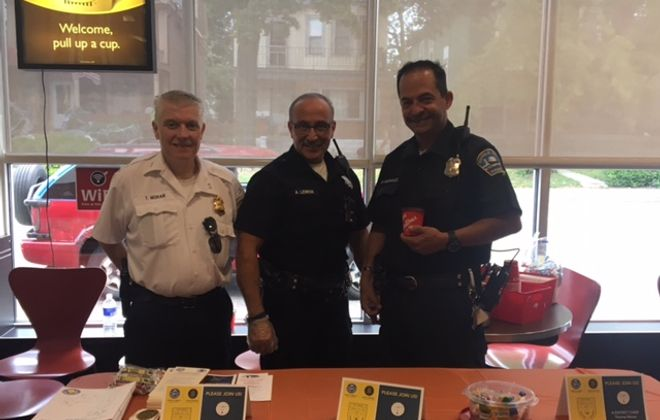 """""""Coffee with a Cop"""" day is a national law enforcement program that  brings together police officers and the communities they serve."""