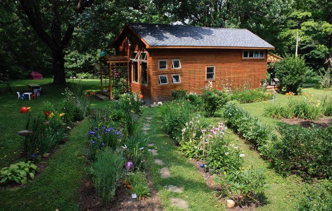 A summertime view of Bonnie Bowen's year-round cabin in Cherry Creek. (Photo by Bonnie Bowen)