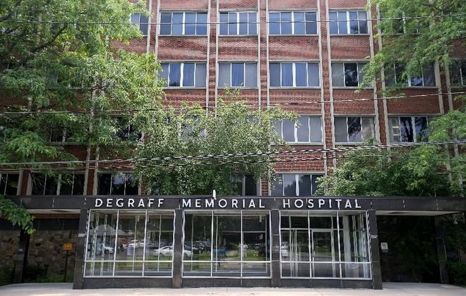 DeGraff Memorial Hospital in North Tonawanda. (Mark Mulville/Buffalo News)