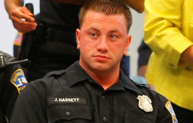 Buffalo Police Officer Joseph Hassett, who was placed on desk duty after the Erie County district attorney told Buffalo police that Hassett wasn't credible enough to use as a witness in criminal cases. (News file photo)