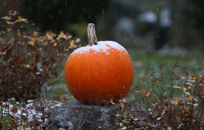 It's the great snowy pumpkin, Charlie Brown. (Buffalo News file photo)