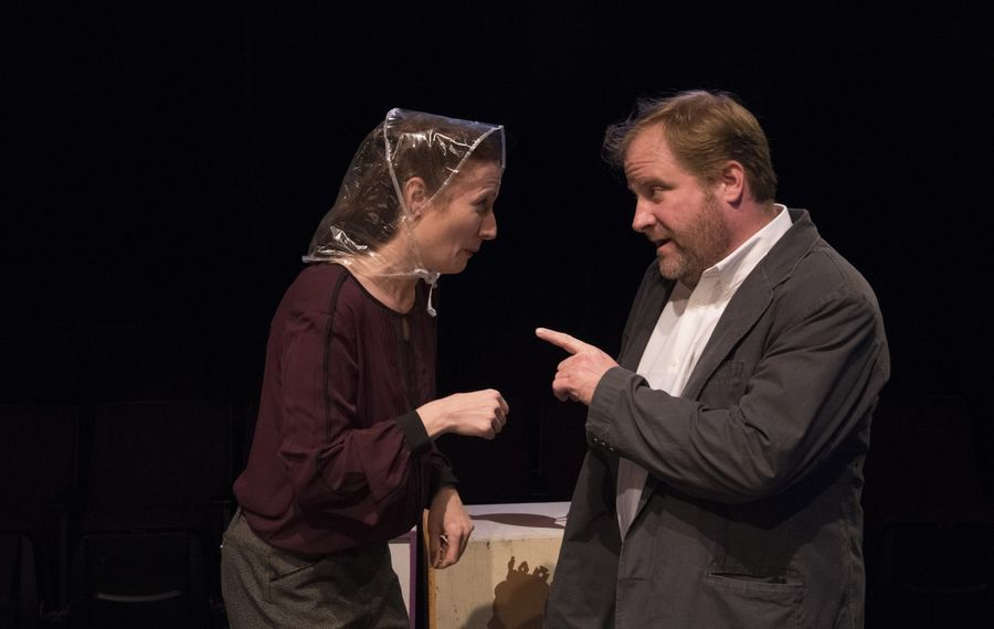 """Kristen Tripp Kelley and Christian Brandjes are featured in the Irish Classical Theatre Company's production of """"Minding Frankie."""""""