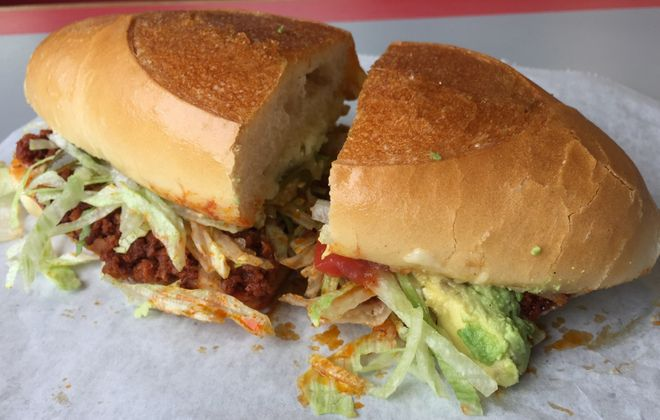 Chorizo torta at Taqueria Ranchos La Delicias, which has announced a new Delaware Avenue location. (Andrew Galarneau/News file photo)