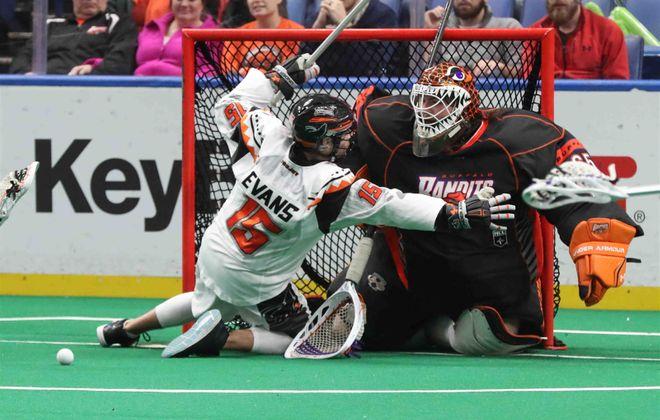 Davide DiRuscio has been the Bandits backup goalie for the past three seasons. (James P. McCoy/Buffalo News)