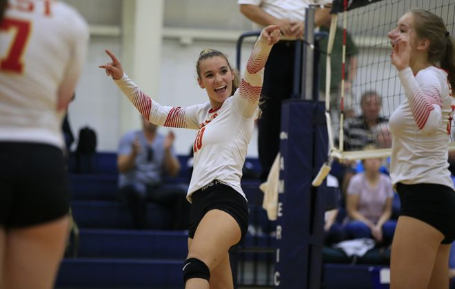 Allison Jozwiak and the Williamsville East girls volleyball team are headed to their third straight NSYPHSAA semifinals on Saturday. (Harry Scull Jr./The Buffalo News)