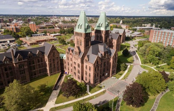The Richardson Center Corp. is negotiating with two local developers interested in projects at the Richardson Olmsted Complex, now home to Hotel Henry, a restaurant and planned architecture center.  (Derek Gee/Buffalo News)