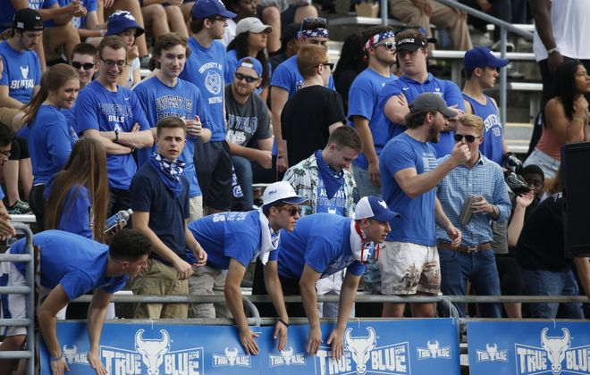 UB and its fans will be rooting for bowl eligibility in their regular-season finale Friday at UB Stadium.  (Robert Kirkham/Buffalo News)