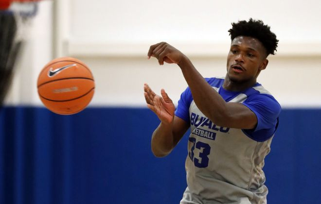 Nick Perkins averaged 12.4 points and a team-high 6.7 rebounds for the Bulls last year. (Mark Mulville/Buffalo News).