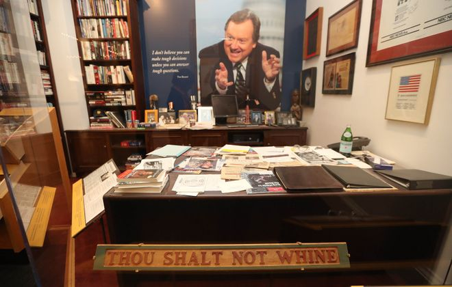"The museum exhibit ""Inside Tim Russert's Office"" at the Buffalo History Museum. (Sharon Cantillon/Buffalo News)"