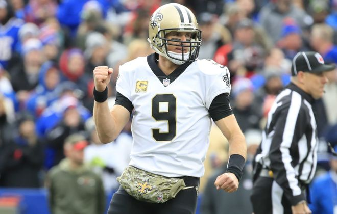The New Orleans Saints have won 10 consecutive games, the longest active winning streak in the NFL.  (Harry Scull Jr./News file photo).