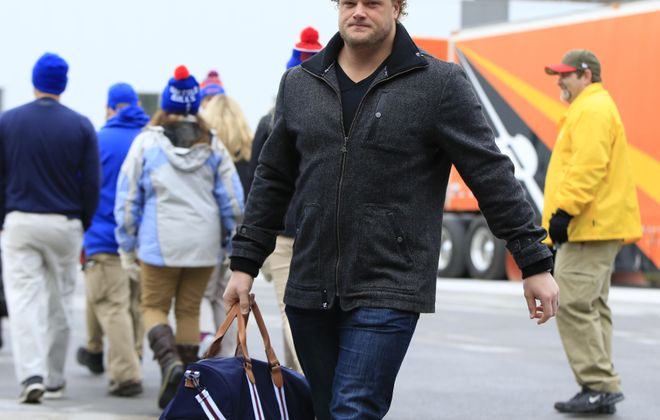 """Buffalo Bills center Eric Wood said the team's focus is """"getting back to fundamentals."""" (Harry Scull Jr./ Buffalo News)"""