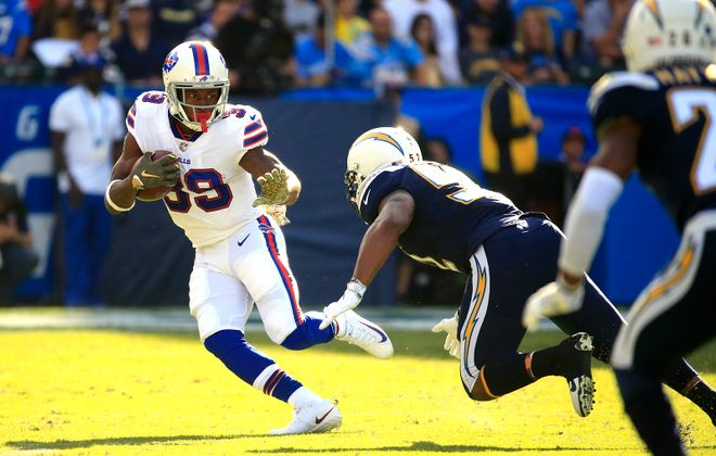 In his first two games with the Bills, Travaris Cadet has asserted himself as a reliable pass-catching option. (Harry Scull Jr./News file photo)