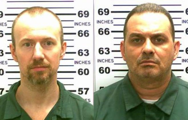 David Sweat, left, and Richard Matt broke out of Clinton Correctional Facility.