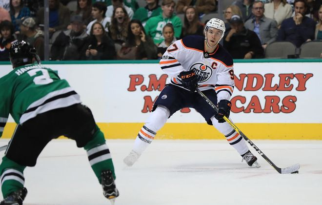 Connor McDavid is sixth in the NHL in scoring with 28 points in 22 games (Getty Images).