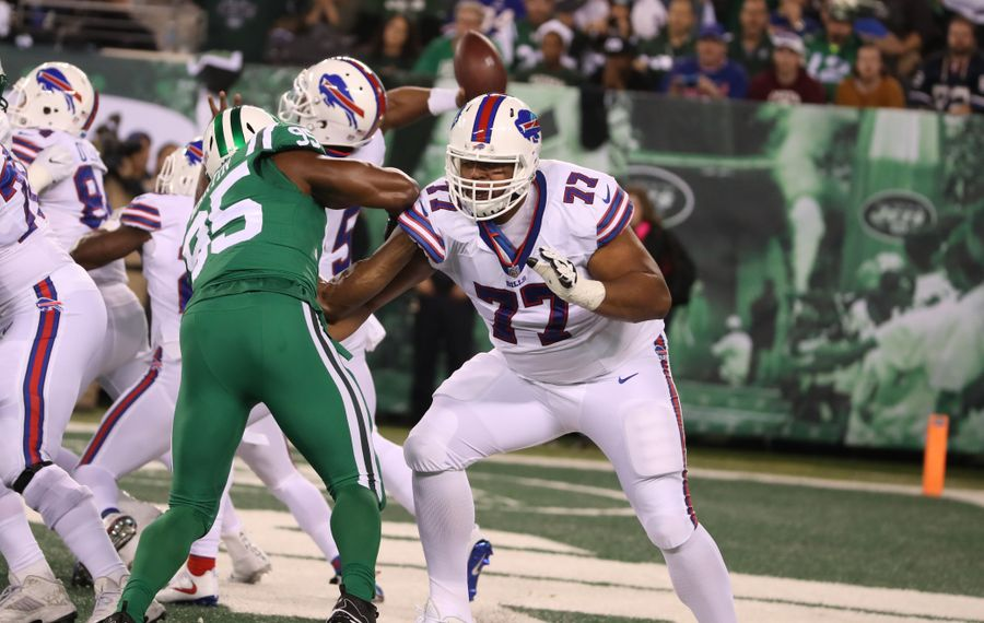 Cordy Glenn's most recent action came two games ago against the New York Jets. (James P. McCoy/Buffalo News)
