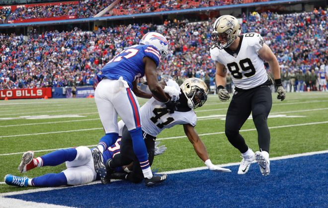The Saints loss was a low point for the Bills' run defense. (Derek Gee/Buffalo News)