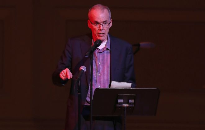 Bill McKibben speaks on stage during Pathway To Paris Concert For Climate Action at Carnegie Hall on Nov. 5 in New York City. (Kevin Kane/Getty Images for UNDP)