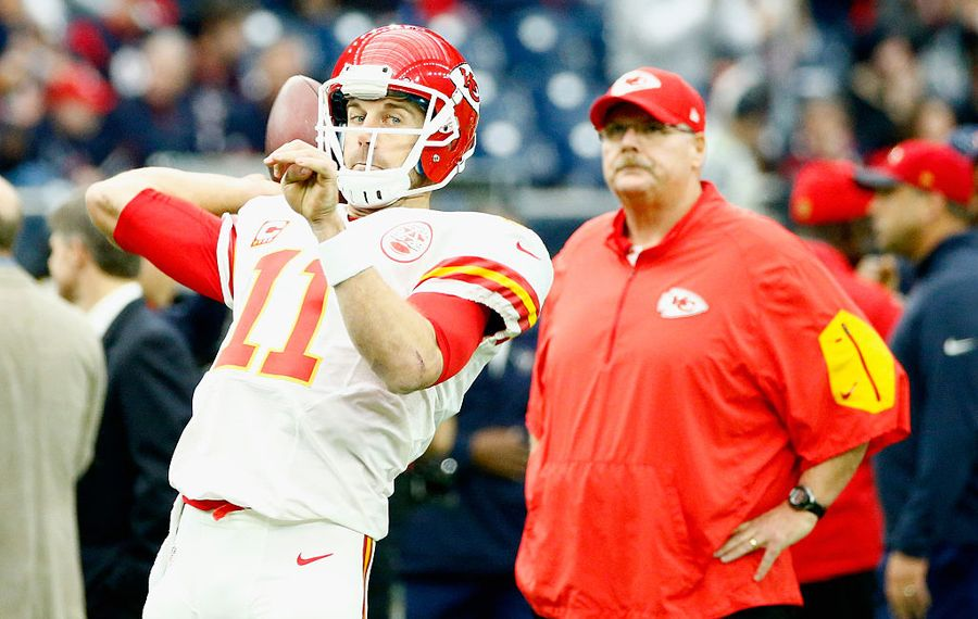 Chiefs coach Andy Reid had to move on from QB Alex Smith. (Scott Halleran/Getty Images)