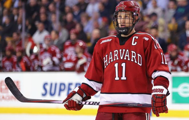 Kyle Criscuolo played four years at Harvard.  (Getty Images)