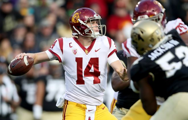 USC quarterback Sam Darnold (Photo: Matthew Stockman/Getty Images)
