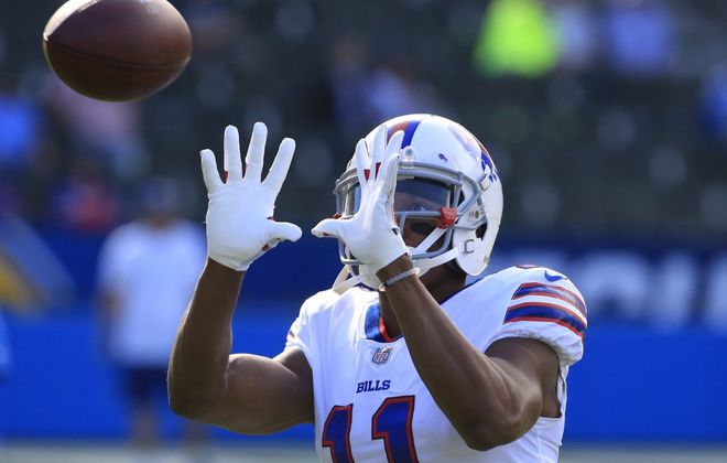 Zay Jones isn't cleared to practice at training camp. (Harry Scull Jr./Buffalo News)