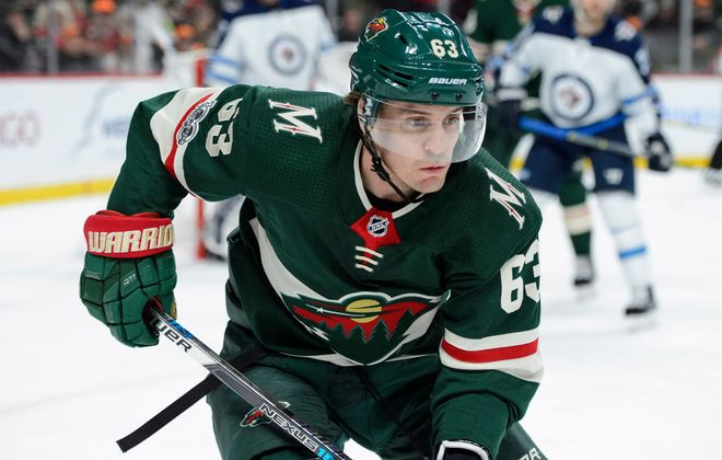 Tyler Ennis has three goals and two assists in 20 games for the Wild this season (Getty Images).