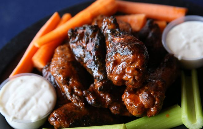 Elmo's, at 2349 Millersport Highway, Amherst makes Cajun double-dipped wings. (Sharon Cantillon/Buffalo News)