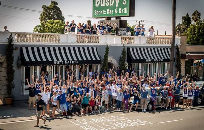 The Los Angeles Bills Backers of Santa Monica bring as many as 500 fans to Busby's West on Santa Monica Boulevard. (Photo Courtesy of Los Angeles Bills Backers of Santa Monica)