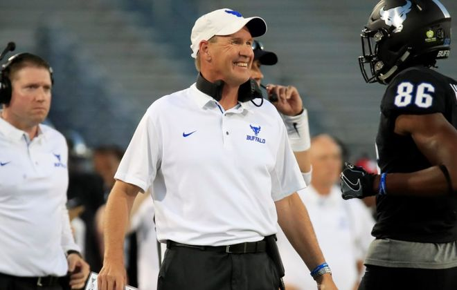 University at Buffalo football coach Lance Leipold. (Harry Scull Jr./News file photo)