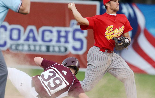 Williamsville East shortstop Charlie Mack is expected to sign with Clemson as the NCAA early signing period begins Wednesday. One of the top players at his position in Western New York, last season Mack hit .383 and drove in 20 runs.  (James P. McCoy/ Buffalo News file photo)