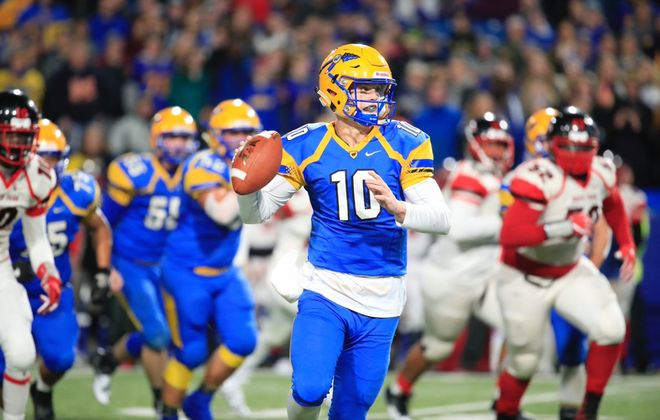 Matt Myers and West Seneca West overcame a two-touchdown deficit during Saturday's comeback win over South Park in the Section VI Class A final. (Harry Scull Jr./Buffalo News)