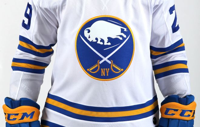 The Sabres unveiled their 2018 NHL Winter Classic jersey.