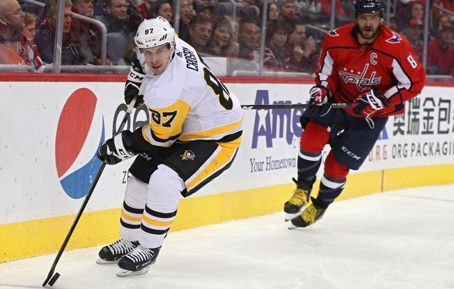 Sidney Crosby endured his 10th straight game without a goal Friday in Washington. (Getty Images).