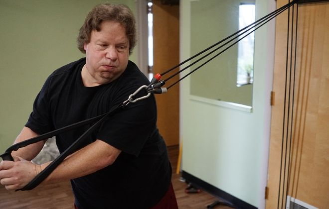 """If I didn't do this,"" WGR Sports Radio Sabres beat reporter Paul Hamilton says of his gastric bypass surgery last year, ""I didn't think I would have lasted another two years."" (Derek Gee/Buffalo News)"