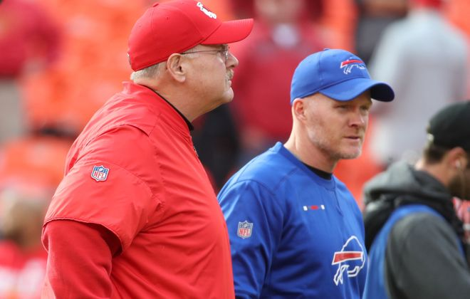 Give head coach Sean McDermott's defense credit for the team's 15.3 percent conversion rate on third down. (James P. McCoy/Buffalo News)