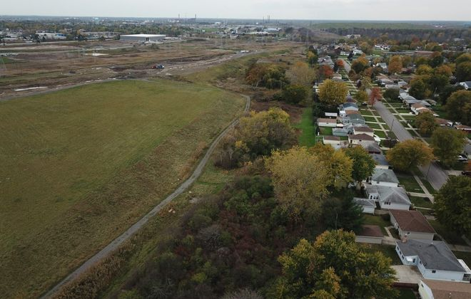 An aerial view of the former Town of Tonawanda landfill, where the Army Corps of Engineers recently finished removing soil contaminated with radioactive waste. (John Hickey/Buffalo News file photo)