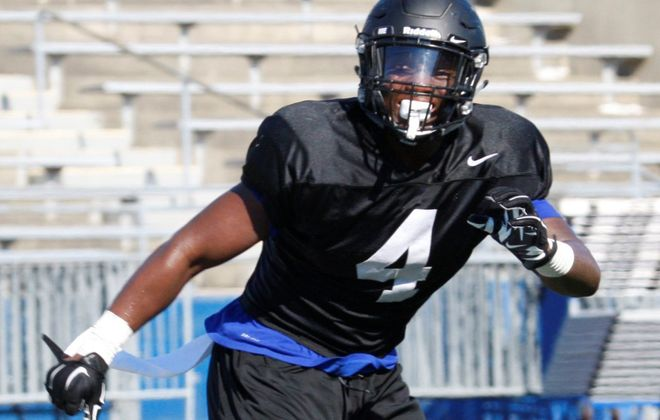 Linebacker Khalil Hodge will get a chance to impress NFL scouts during UB's pro day on March 13. (Harry Scull Jr./News file photo)