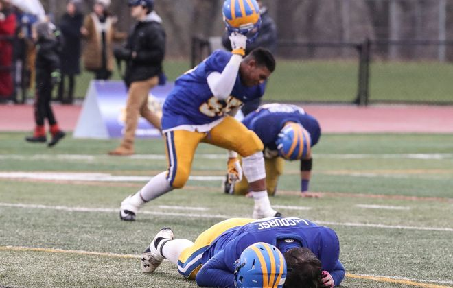 After scoring 50 first-half points, Cleveland Hill came up just short against Section III champion Skaneateles in a high-scoring NYSPHSAA Class C semifinal at Union-Endicott High School. (James P. McCoy/Buffalo News)