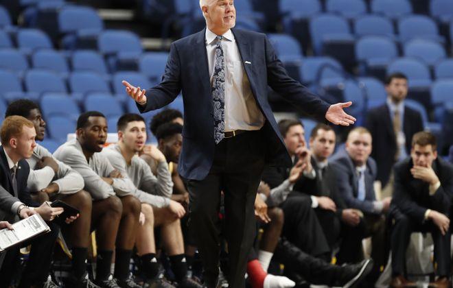 St. Bonaventure coach Mark Schmidt. (Harry Scull Jr./News file photo)