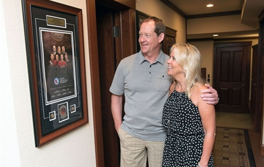 At home in Minnesota (and Buffalo) with Karin and Phil Housley