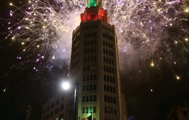 The Electric Tower hosts the annual New Year's Eve ball drop. (News file photo)