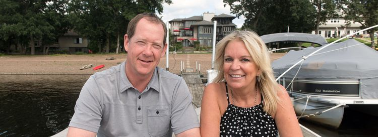 Phil Housley returned to Minnesota during the bye week to support his wife, Karin, as she began her U.S. Senate campaign. (Angela Jimenez/Special to The News)