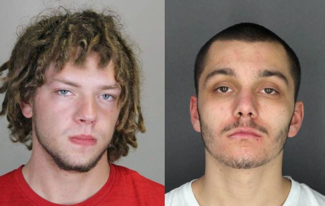 Jesse Smith, left,  and Justin Zamito were arrested on Monday night.