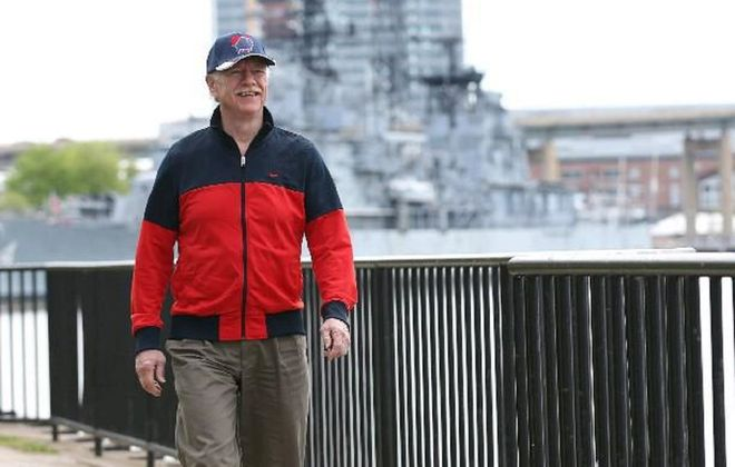 Phillip Haberstro, executive director of the Wellness Institute of Greater Buffalo, will lead a walk near the Buffalo waterfront to help launch the region's first Mindfulness Festival. (Sharon Cantillon/News file photo)