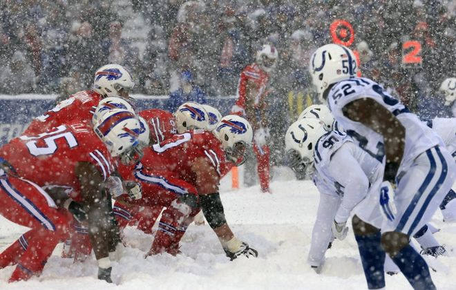 "The last time the Bills faced the Colts was the ""snow game"" at New Era Field on Sunday, Dec. 10, 2017. (Harry Scull Jr./Buffalo News)"
