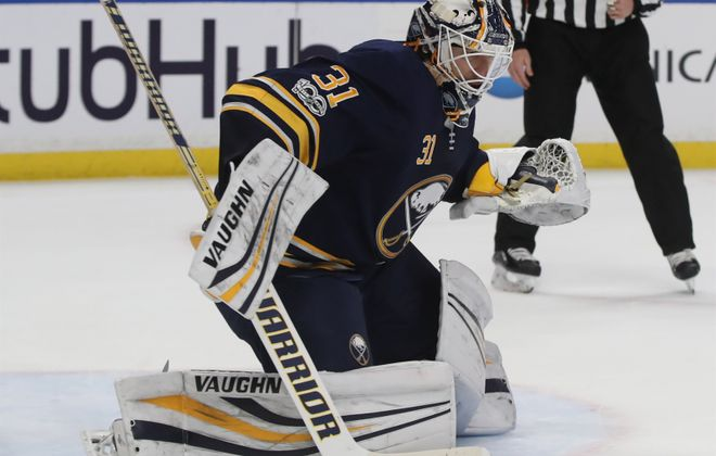 Chad Johnson's regular gear will stay in storage on Jan. 1. (James P. McCoy/Buffalo News)