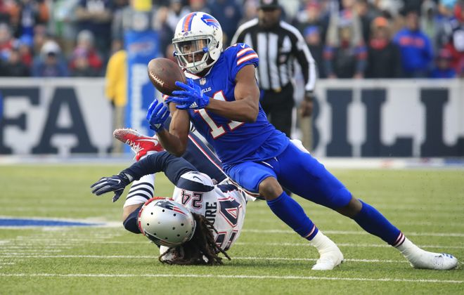 Bills receiver Zay Jones is back on the roster for training camp. (Harry Scull Jr./Buffalo News)