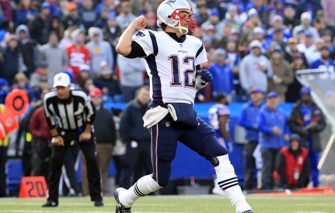 New England Patriots quarterback Tom Brady. (Harry Scull Jr./News file photo)