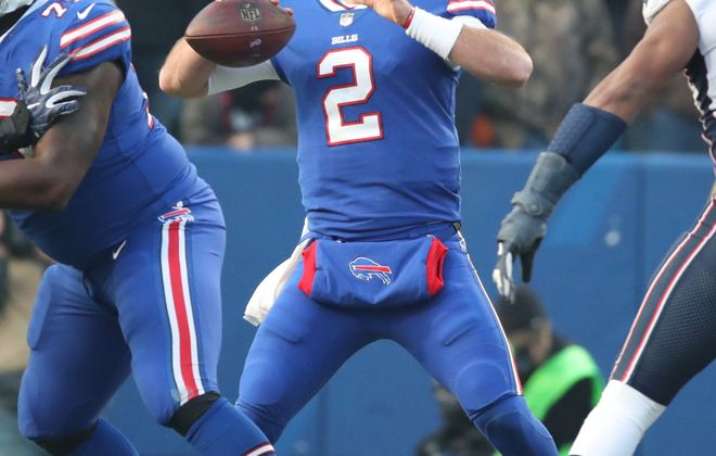 Bills quarterback Nathan Peterman will likely make his fourth career start Sunday. (James P. McCoy/Buffalo News)