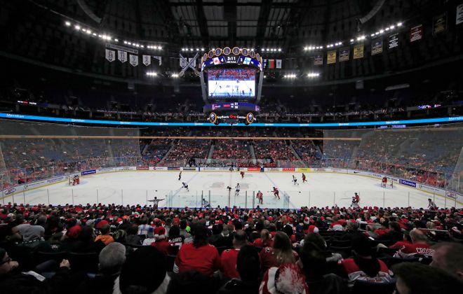 Canada and Finland  play  their World Juniors  opener  in front of a half-empty KeyBank  Center (Harry  Scull  Jr./Buffalo News).